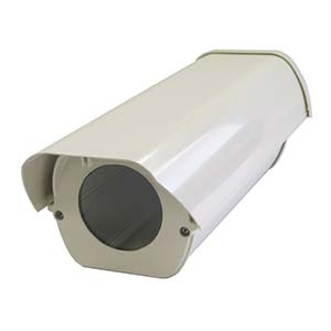 Flip-Top beige aluminium housing Supports thru-cable bracket